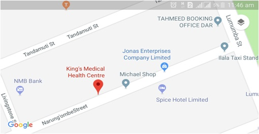 King's Medical Center Map